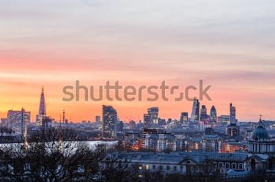 Carta da parati Orizzonte di Londra al tramonto, Inghilterra, Regno Unito
