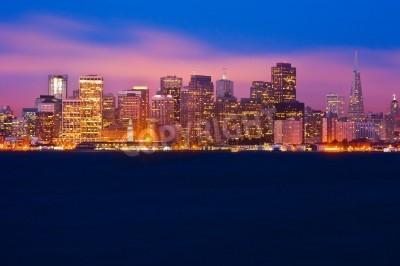 Carta da parati Orizzonte di San Francisco durante la notte
