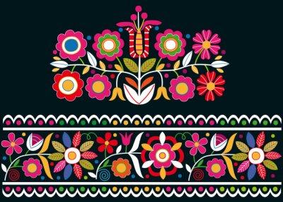 Carta da parati ornamenti Folk slovacchi