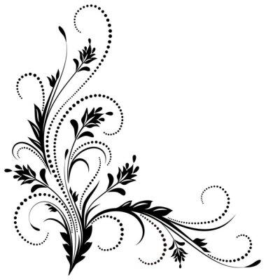 Carta da parati Ornamento d'angolo decorativo
