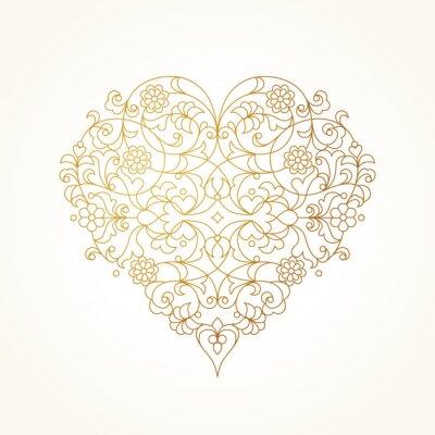 Carta da parati Ornato cuore vettoriale. Giorno Illustrazione di San Valentino.