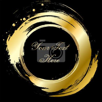 Oro pennellate su sfondo nero carta da parati carte da for Carta da parati oro