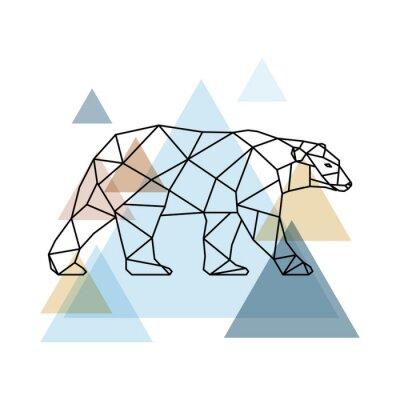 Carta da parati Orso geometrico astratto.