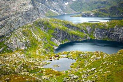 Carta da parati paesaggi Norvegia settentrionale. Isole Lofoten