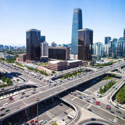 Carta da parati paesaggio della città moderna, beijing