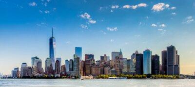 Carta da parati Paesaggio di città di New York con grattaciel