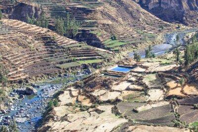 Carta da parati paesaggio in Ande. Perù.
