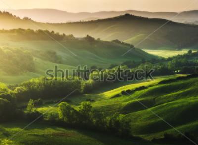 Carta da parati Paesaggio splendidamente illuminato della Toscana