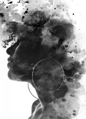 Carta da parati Paintography portrait of a young woman