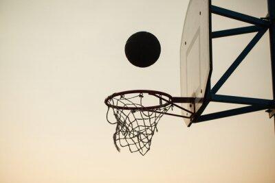 Carta da parati pallacanestro sopra l'anello