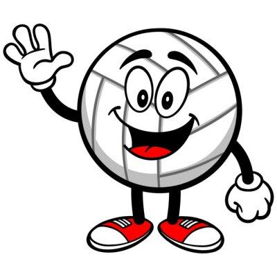 Carta da parati Pallavolo Mascot Waving