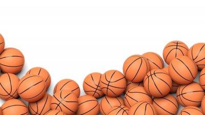 Carta da parati Palle basket isolato su sfondo bianco