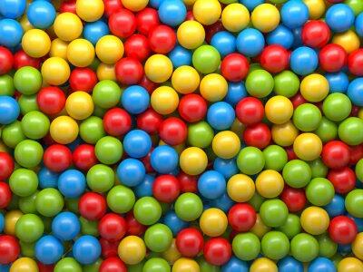 Carta da parati palle di colore misto di sfondo