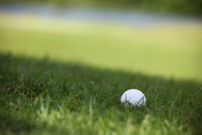 Carta da parati pallina da golf sul corso