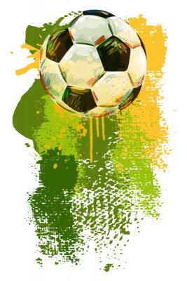 Carta da parati Pallone da calcio Banner. Tutti gli elementi sono in strati separati e raggruppati.