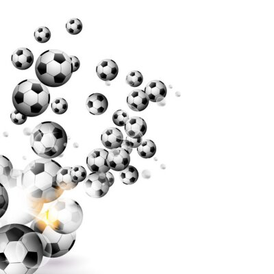 Carta da parati pallone da calcio isolato su uno sfondo bianco