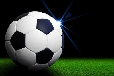 Carta da parati Pallone da calcio su stadio verde