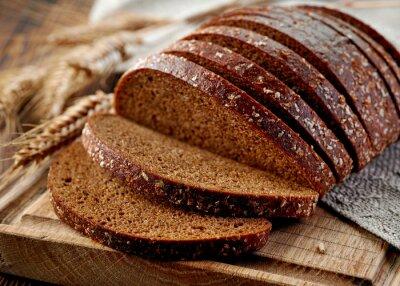 Carta da parati pane di segale fresco