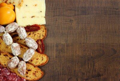 Carta da parati Pane,salumi e formaggi