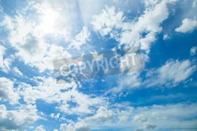Carta da parati Panorama colpo di cielo azzurro e nuvole in buone giorni di previsioni