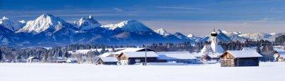 Carta da parati Panorama del luogo Berghof nelle Alpi Baviera
