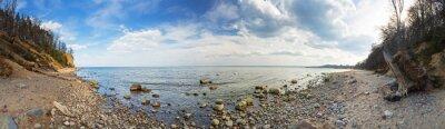 Carta da parati Panorama del Mar Baltico alla rupe Orlowo, in Polonia