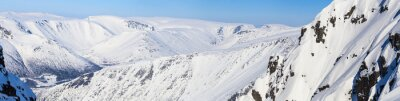 Carta da parati Panorama delle montagne del nord