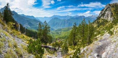 Carta da parati Panorama delle montagne nel nord dell'Albania