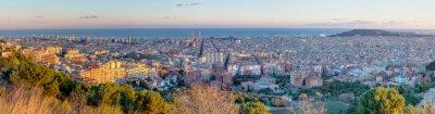Carta da parati Panorama di Barcellona