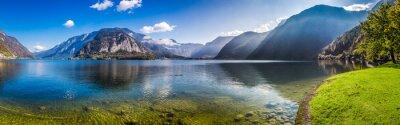 Carta da parati Panorama di Crystal Lake di montagna nelle Alpi