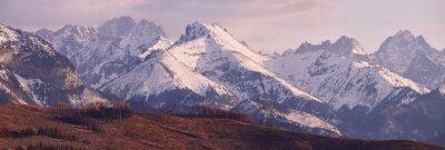 Carta da parati Panorama di innevate montagne Tatra in primavera, sud della Polonia
