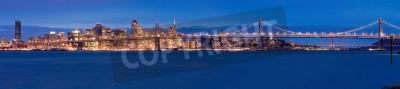 Carta da parati Panorama di San Francisco di notte