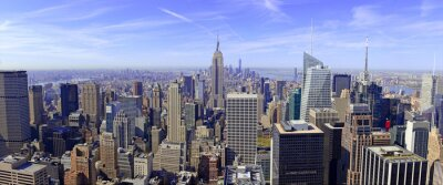 Carta da parati Panorama di skyline di Manhattan a New York City, Stati Uniti d'America