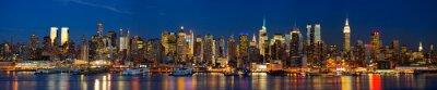 Carta da parati Panorama di skyline di Manhattan di notte, New York