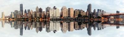 Carta da parati Panorama grandangolare di New York City