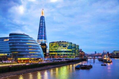 Carta da parati Panoramica di Londra con la Shard London Bridge