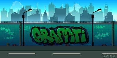 Carta da parati parete di fondo graffiti, arte urbana