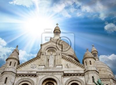 Carta da parati Parigi, 29 Nov: vista dal basso della Cattedrale del Sacro Cuore.