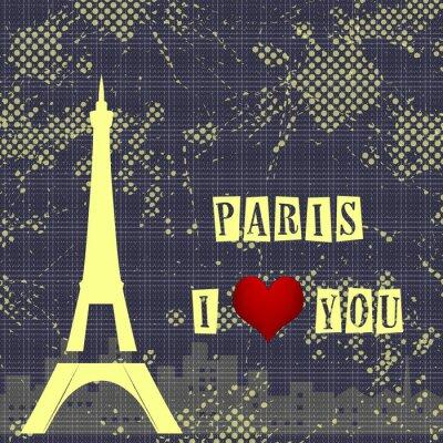 Carta da parati Parigi - è la città dell'amore e del romanticismo