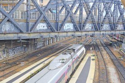Carta da parati Parigi, Francia, 9 Febbraio 2016: la stazione ferroviaria Nord di Parigi, Francia