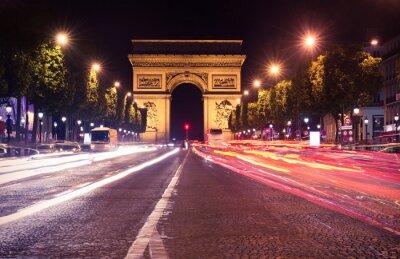 Carta da parati Paris, Champs-Elysees at night