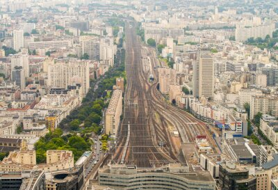 Carta da parati Paris train station as seen from high vantage point
