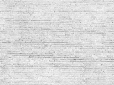 Carta da parati parte vuota di bianco muro di mattoni dipinti.