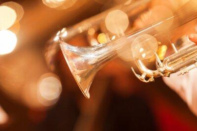 Carta da parati Particolare del primo piano tromba toni dorati