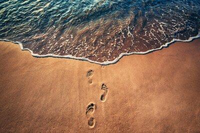 Carta da parati Passi sulla spiaggia