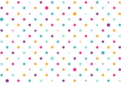 Carta da parati Pastello puntini variopinti illustrazione vettoriale Sfondo bianco