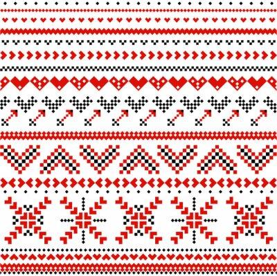 Carta da parati Pattern con cuori espansione scandinavi