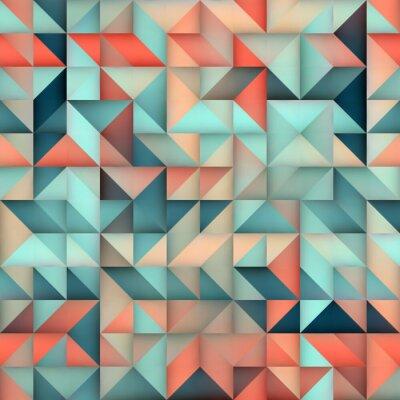 Carta da parati Pattern Vector seamless blu sfumato rosa triangolo irregolare Quadrato