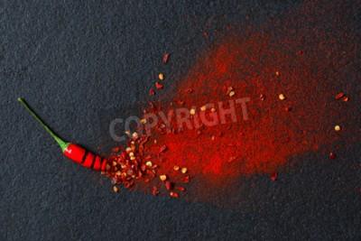 Carta da parati Peperoncino, peperoncino e peperoncino in polvere scoppio