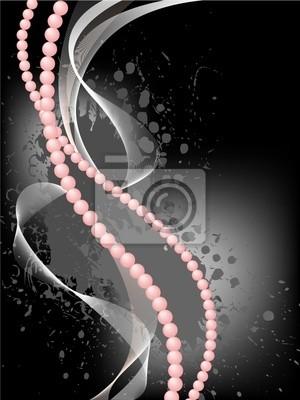 Perle Rosa Con Un Velo Su Uno Sfondo Nero Macchiato Carta Da Parati